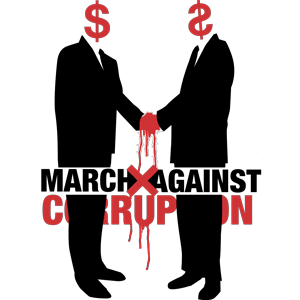 March Against Corruption logo